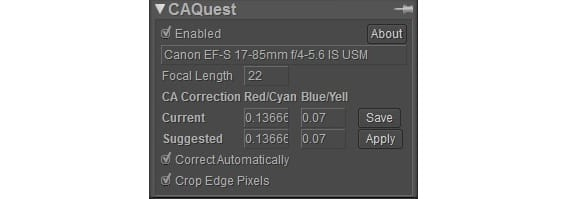 CA Quest - Manage Chromatic Aberration Correction