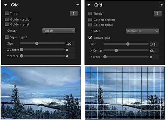 Grid - Displays different useful grids and lines on the photo