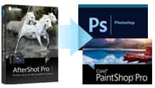 Send your photos from AfterShot to Photoshop with the click of a mouse